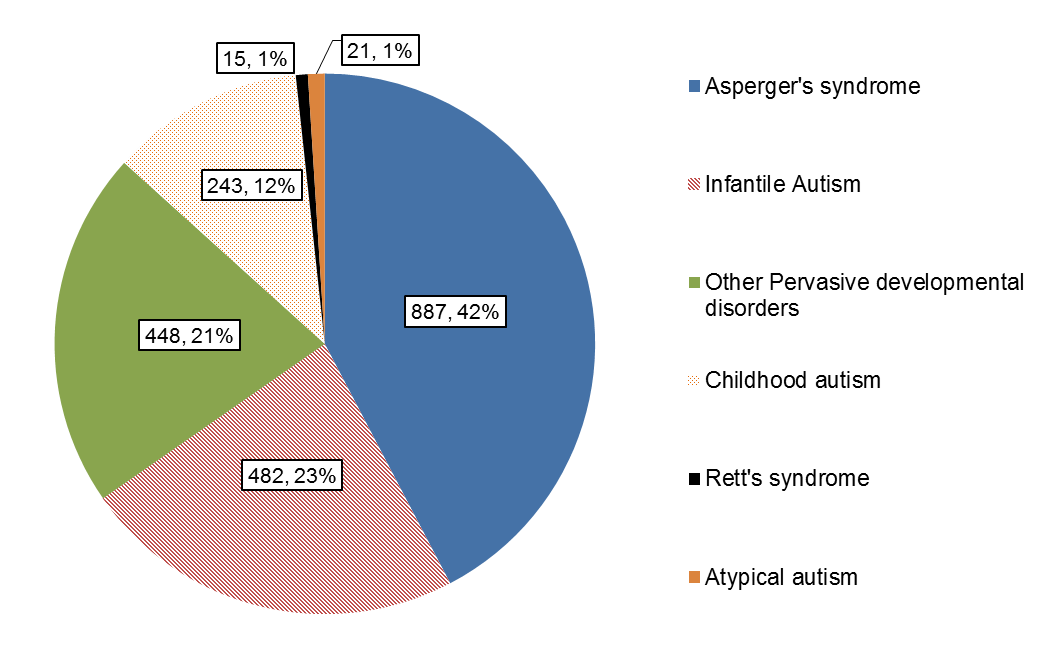 Autism in Somerset by Type 2014