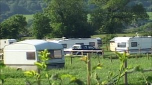 Traveller caravan site