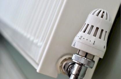 Thermostat on radiator