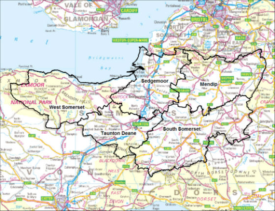Map Of Somerset Uk Somerset: Facts & Figures   Somerset Intelligence   The home of  Map Of Somerset Uk